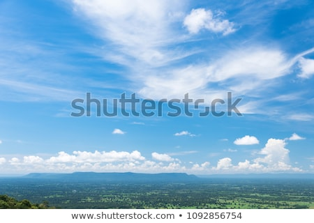 Layer of high altitude cirrostratus cloud Stock photo © stryjek