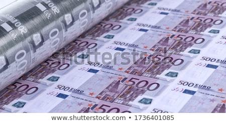 Euros billetes aislado blanco negocios Foto stock © smuki