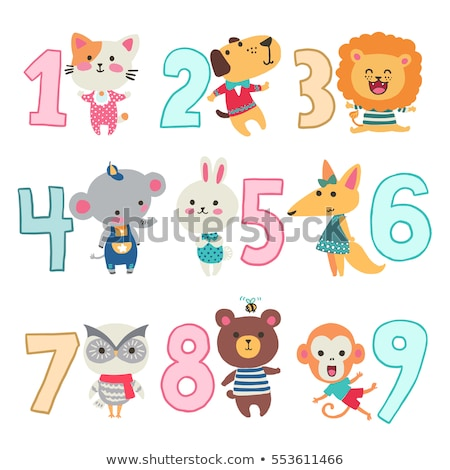 numbers with cute animals stock photo © artisticco