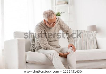 homem · em · dor · branco · esportes · saúde - foto stock © AndreyPopov