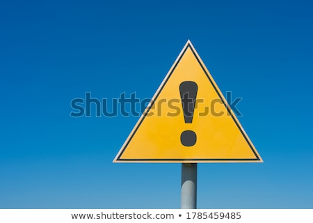 Yellow Warning Sign - Danger - Blue Sky Stock photo © iqoncept