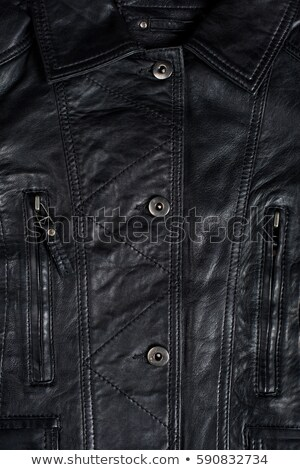 Seam Line on Leather Jacket, Detail Stock photo © olivier_le_moal