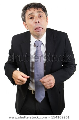 Grief-stricken businessman crying Stock photo © smithore