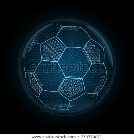 Futbol topu futbol parıltı turuncu siyah başlangıç Stok fotoğraf © axstokes