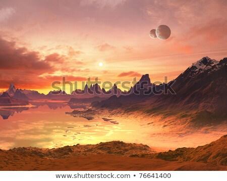 Alienígena costa lua colorido planeta praia Foto stock © kimmit