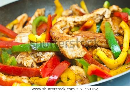 Vegetal frango comida restaurante salada sanduíche Foto stock © M-studio