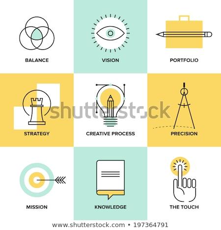 Zestaw projektu ikona tworzenie proces dobre Zdjęcia stock © Elmiko