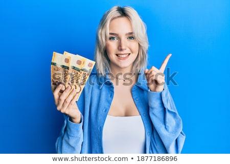 Stock fotó: Magyar · szőke · nő · gyönyörű · fiatal · fekete · csipke