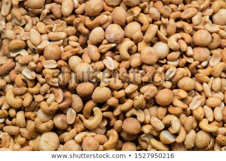 mixed nuts and salty crackers Stock photo © nito