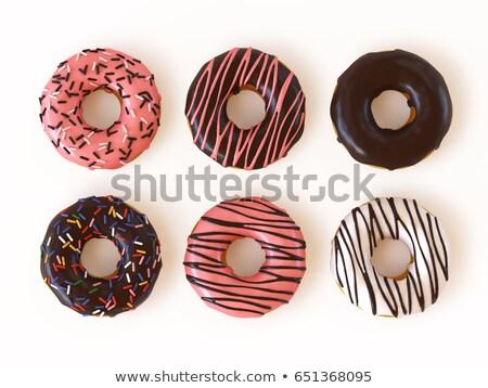ünnepi · csokoládé · sütemény · kekszek · izolált · fehér - stock fotó © natika