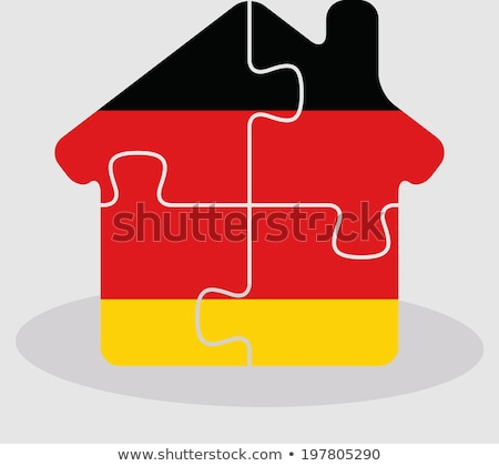 house home icon with german flag in puzzle stock photo © istanbul2009
