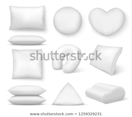Inflável travesseiro azul branco praia Foto stock © nito