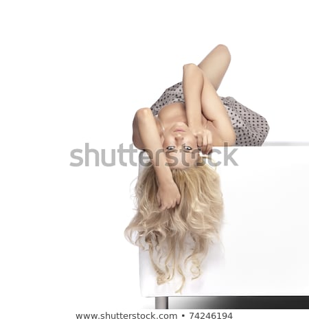 ブロンド · 美 · カーペット · セクシー · ファッション · ボディ - ストックフォト © amok