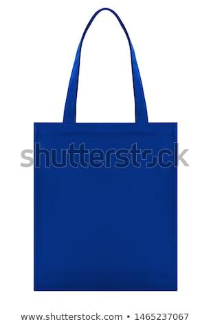 синий сумку кожа золото детали Сток-фото © zhekos