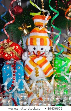 christmas · snowman · dekoracji · biały · szkła - zdjęcia stock © imaster