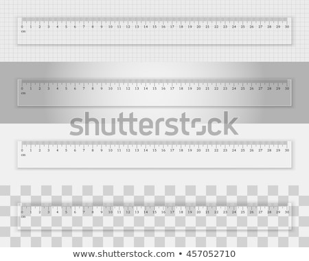 transparent ruler vector illustration Stock photo © konturvid