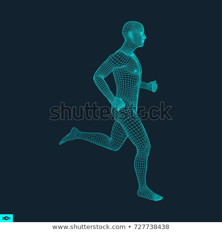 3d man in running pose Stock photo © Istanbul2009