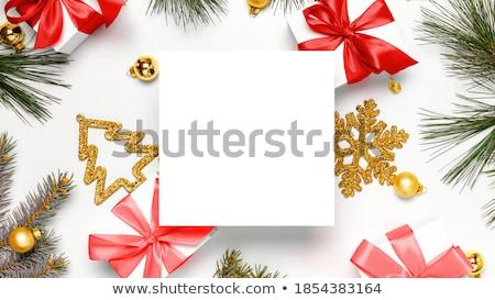 natal · cartão · floco · de · neve · arte - foto stock © liliwhite