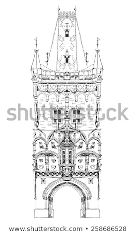 историческая архитектура Прага здании архитектура Windows Европа Сток-фото © Sarkao
