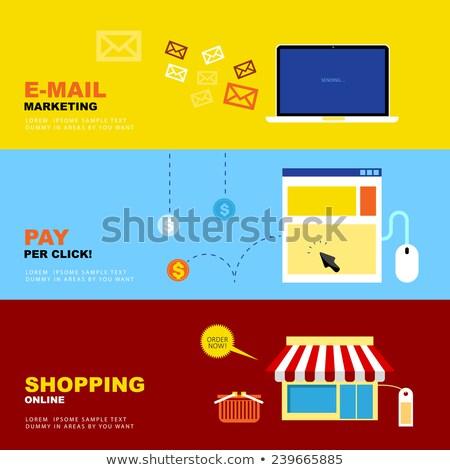 E-mail pazarlama tıklayın alışveriş Stok fotoğraf © thanawong