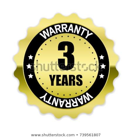 Rok gwarancja fioletowy wektora ikona przycisk Zdjęcia stock © rizwanali3d