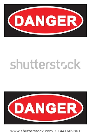 Danger Sign Red Vector Icon Button Stock photo © rizwanali3d