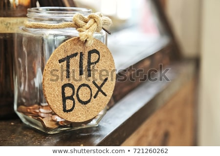 Pointe jar symbole questions contenant argent Photo stock © Lightsource
