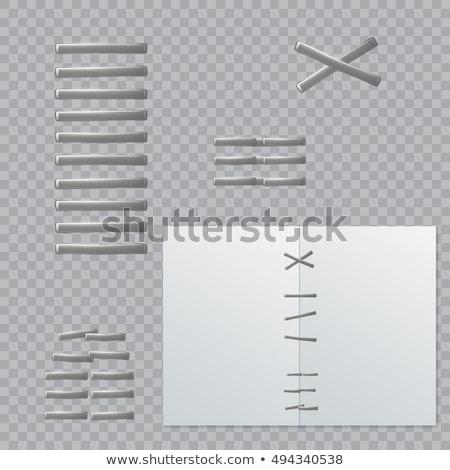 Zımba pin ofis kâğıt okul dizayn Stok fotoğraf © ozaiachin