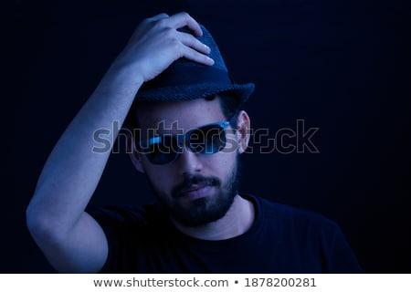 Retrato homem olhando óculos de sol olho Foto stock © alexandrenunes