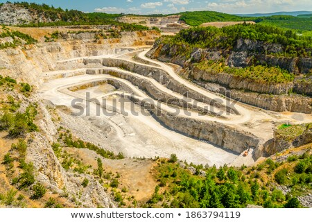 Stock photo: Limestone mine, Koneprusy, Czech republic