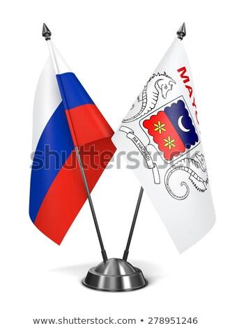 Russia and Mayotte - Miniature Flags. Stock photo © tashatuvango