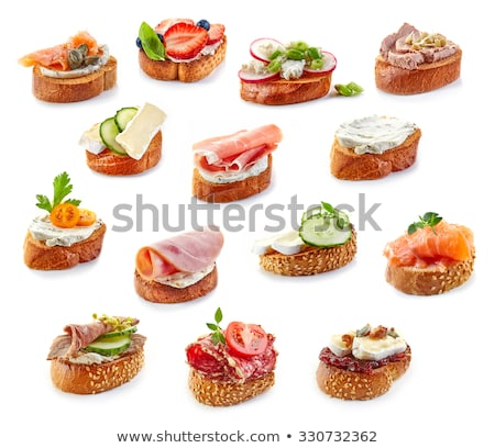 Canape with meat loaf.  Stock photo © fanfo