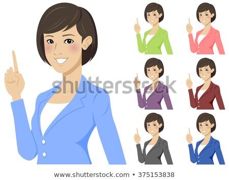 Pretty brunette getting an idea Stock photo © wavebreak_media