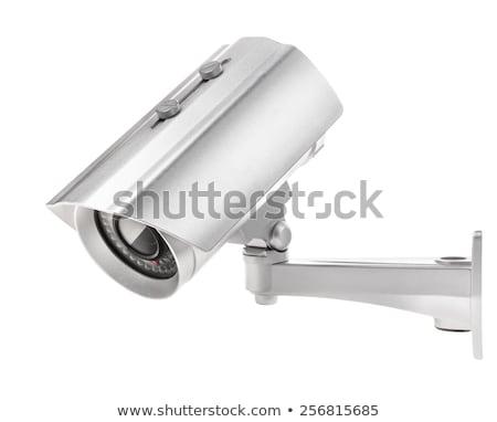 Felügyelet videókamera izolált fém tok izometrikus Stock fotó © vtls