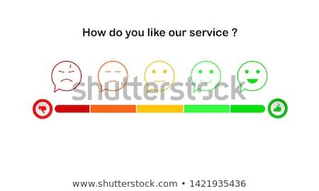 Satisfação do cliente verde vetor ícone projeto negócio Foto stock © rizwanali3d
