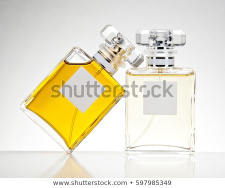 dois · perfume · garrafas · isolado · branco · moda - foto stock © ozaiachin
