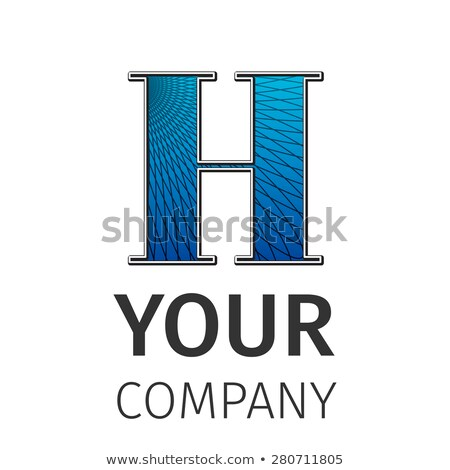 Abstract guilloche Logo, letter-H Stock photo © netkov1
