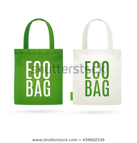 groene · boodschappentas · recycleren · symbool · witte - stockfoto © ozaiachin