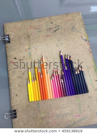 renkli · kalemler · kale · beyaz · sanat · nesne - stok fotoğraf © teerawit