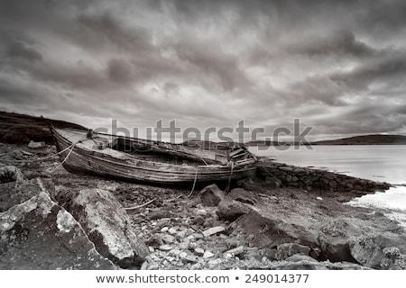 лодка пляж летнее время Закинф Греция воды Сток-фото © sirylok