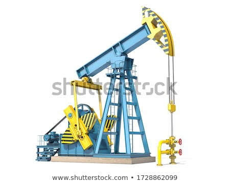 oil pump jack and drilling rig stock photo © evgenybashta