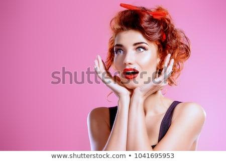 Retrato belo moda menina preto e branco Foto stock © shivanetua