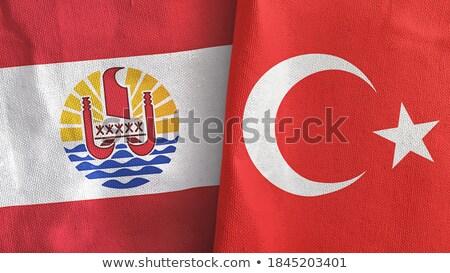 Turchia francese polinesia bandiere puzzle isolato Foto d'archivio © Istanbul2009
