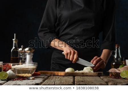 正確な 背景 白 野菜 ニンニク ストックフォト © ozaiachin
