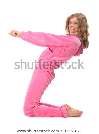 Stock photo: Girl in pink clothes represents  letter z