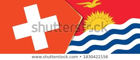 Svájc Kiribati zászlók puzzle izolált fehér Stock fotó © Istanbul2009