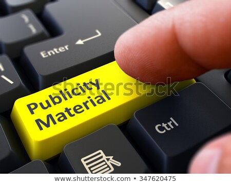 Finger Presses Yellow Keyboard Button Publicity Material. Stock photo © tashatuvango