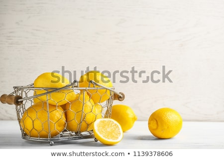 Csoport citromok kosár konzerv lát precíz Stock fotó © Camel2000