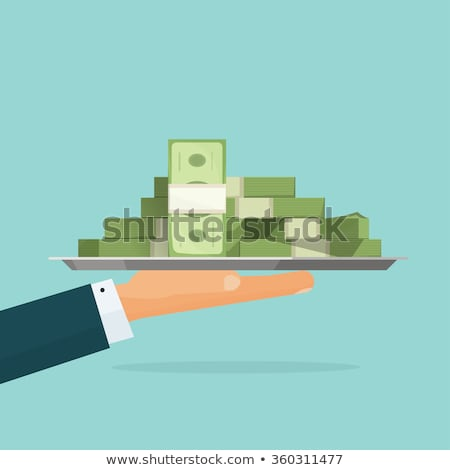 monetary concept. hand and cash illustration Stock photo © alexmillos