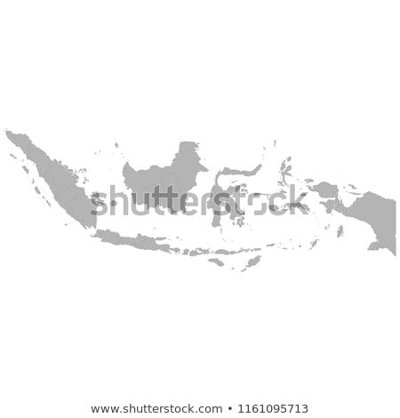 indonesia country on map Stock photo © alex_grichenko